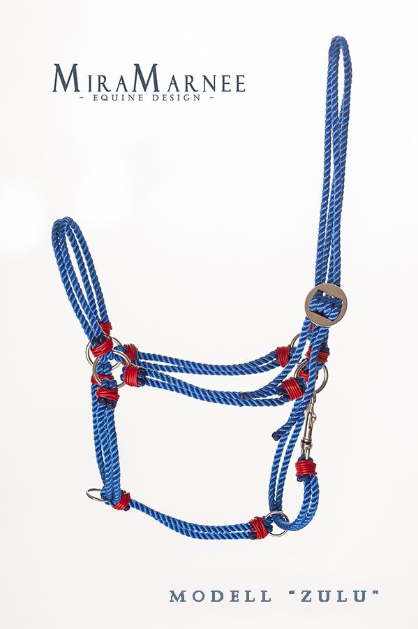 Tauwerk-Halfter blau-rot